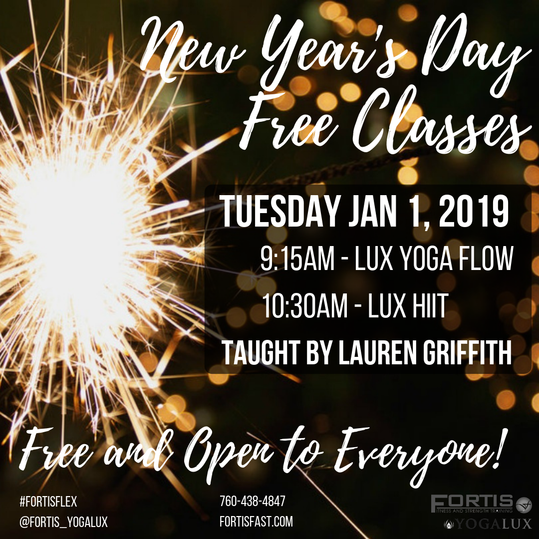 New Year's Day Free Classes