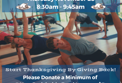 Thanksgiving Day Donation Class